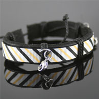 White, Yellow & Black Leather Spare Bracelet